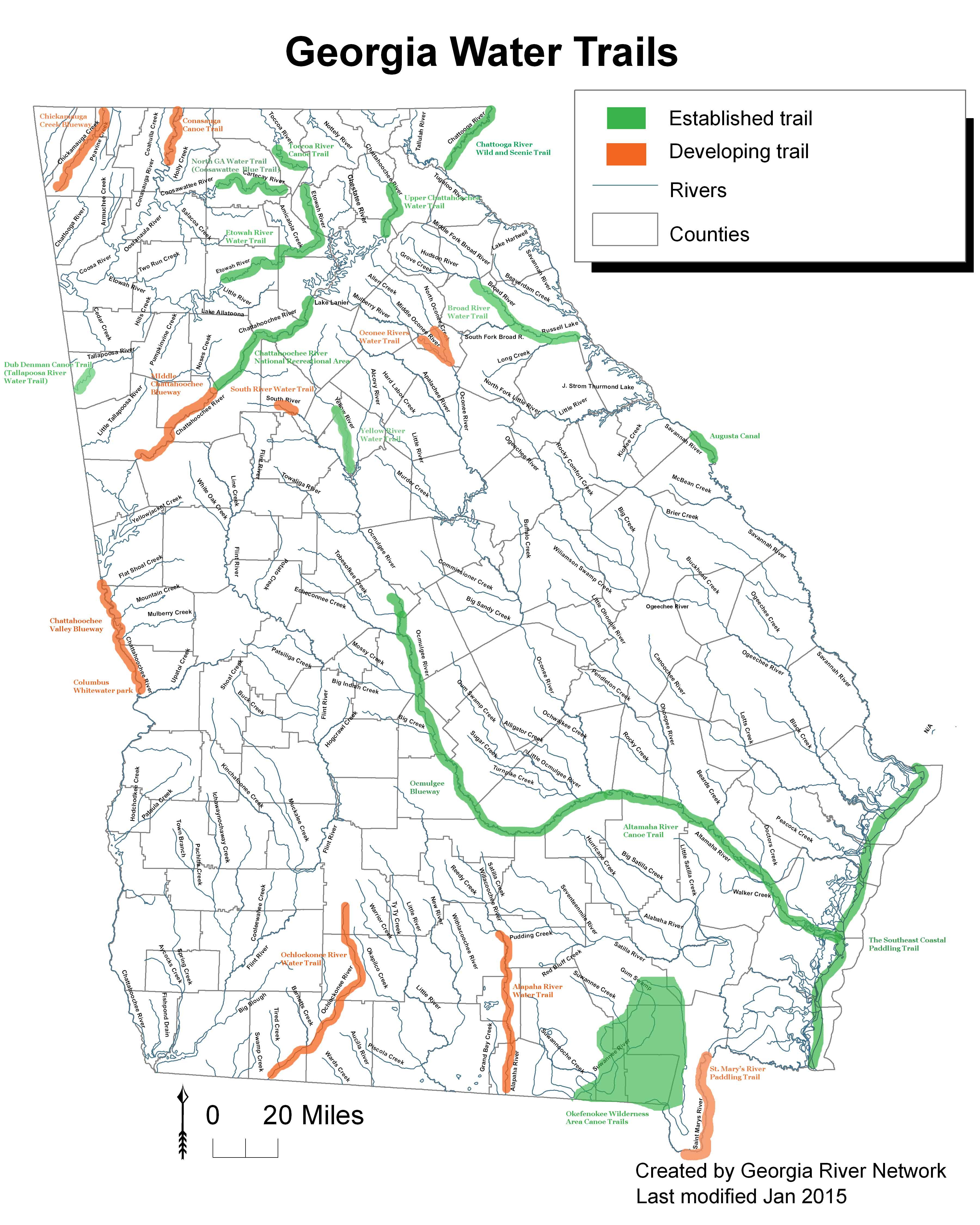 Map of georgia rivers and streams pictures to pin on for Georgia trout fishing map